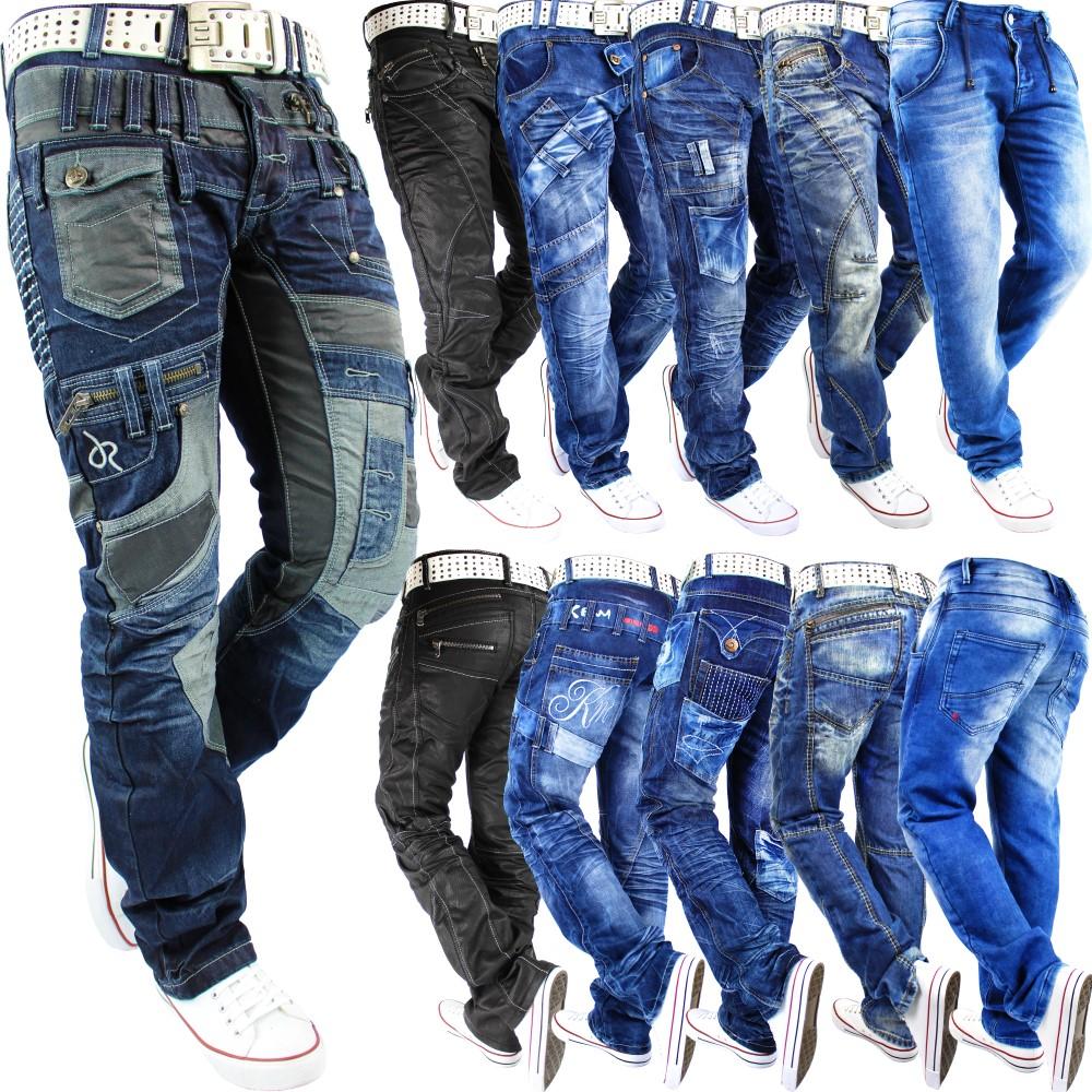herren jeans hose mens pants straight slim fit cargo. Black Bedroom Furniture Sets. Home Design Ideas