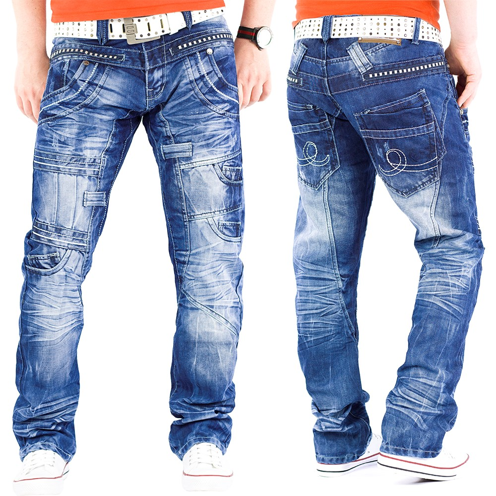 herren jeans kosmo lupo freizeit hose cargo denim mens. Black Bedroom Furniture Sets. Home Design Ideas