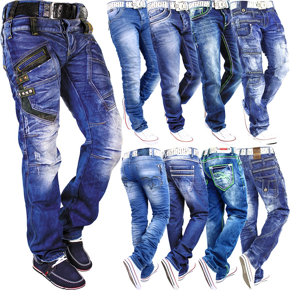 details about herren jeans hose mens pants straight slim fit cargo. Black Bedroom Furniture Sets. Home Design Ideas