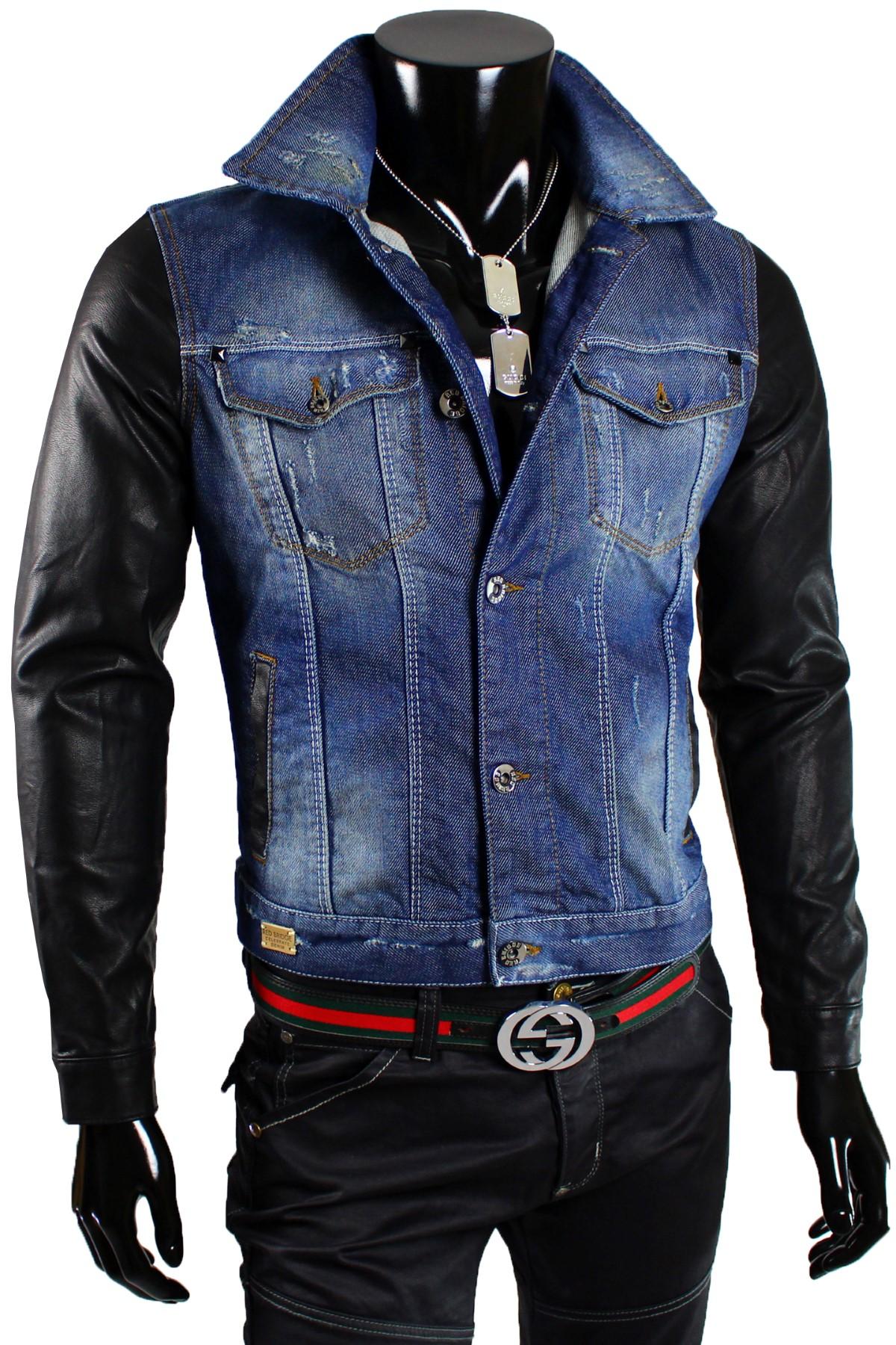 redbridge by cipo baxx herren jeans jacke biker dope. Black Bedroom Furniture Sets. Home Design Ideas