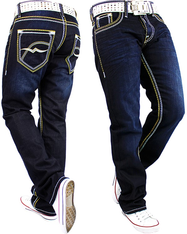 herren jeans hose mens pants straight fit cargo jogging. Black Bedroom Furniture Sets. Home Design Ideas