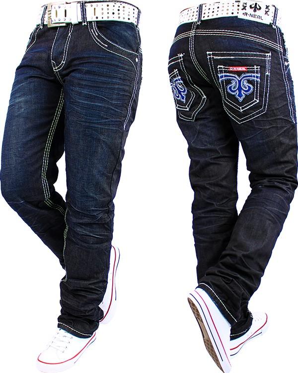 rusty r neal herren jeans freizeit hose straight cut dicke. Black Bedroom Furniture Sets. Home Design Ideas