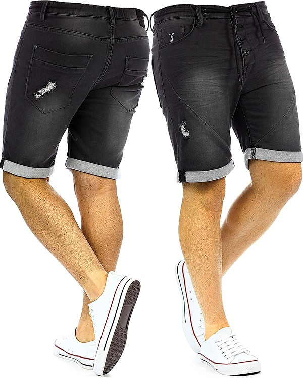 herren jeans shorts capri kurze hose mens pants denim. Black Bedroom Furniture Sets. Home Design Ideas