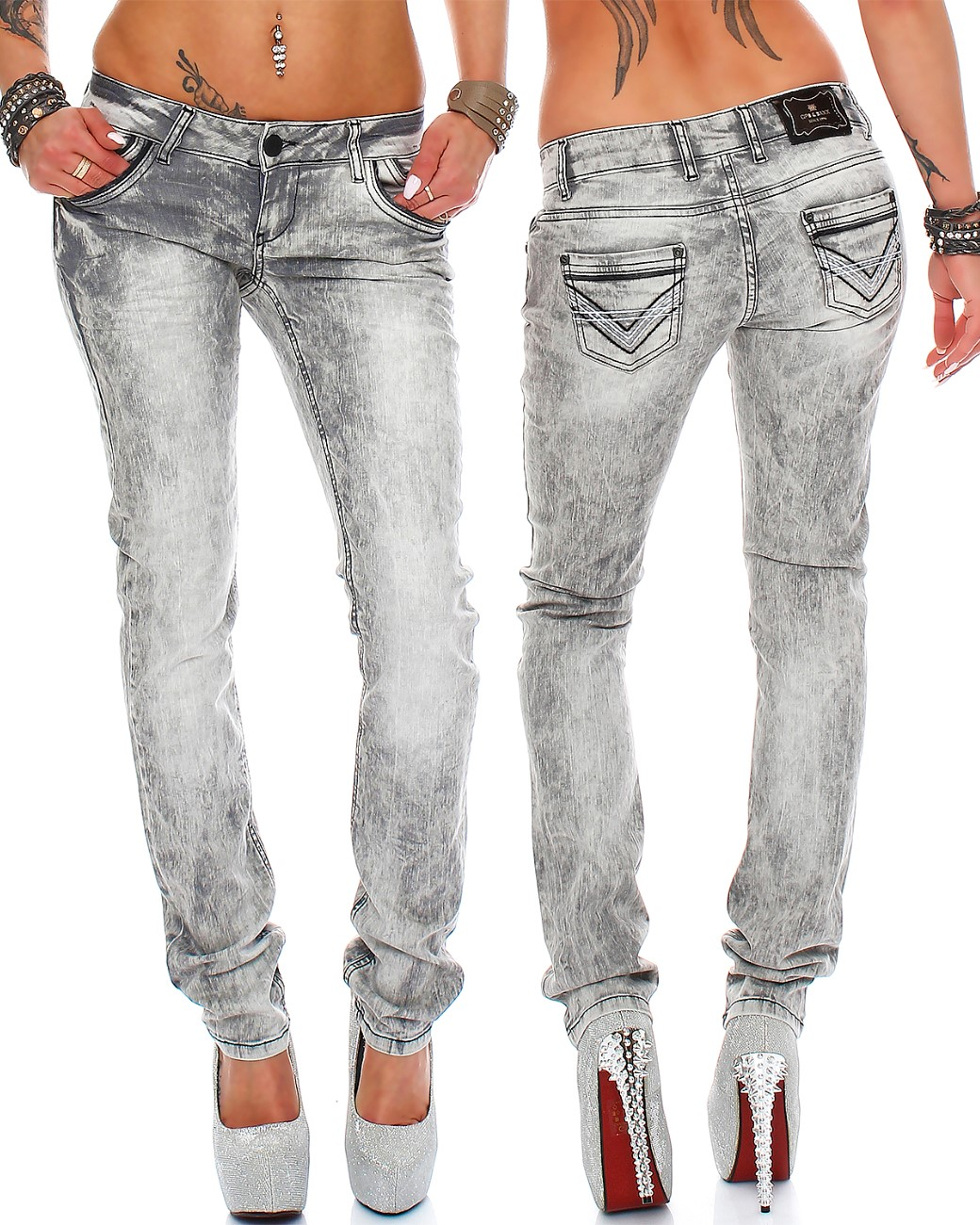 cipo baxx sexy damen jeans stretch r hre hose slim stright fit skinny h ftjeans ebay. Black Bedroom Furniture Sets. Home Design Ideas