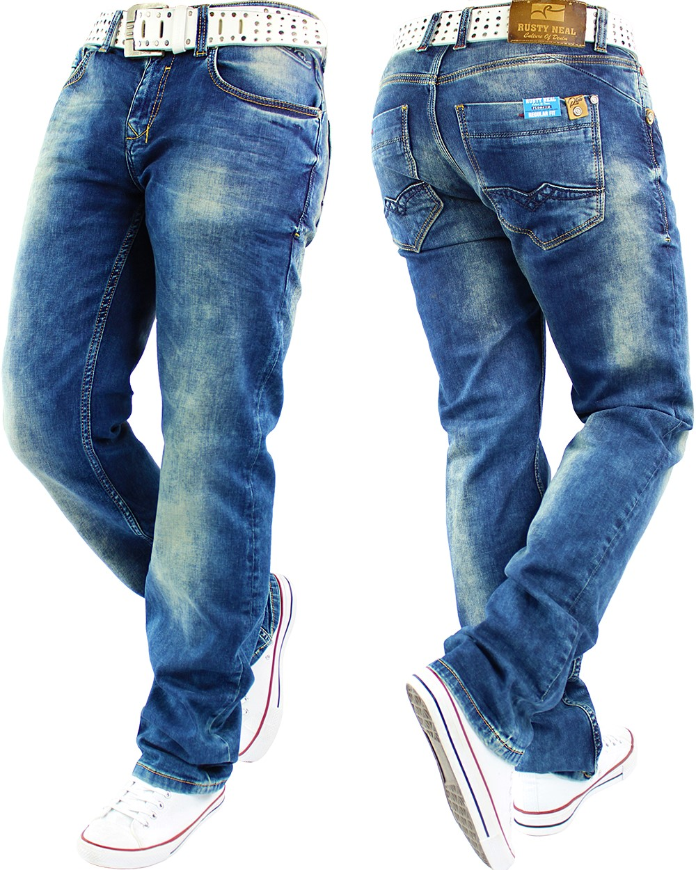rusty r neal herren jeans star hose freizeithose mens. Black Bedroom Furniture Sets. Home Design Ideas