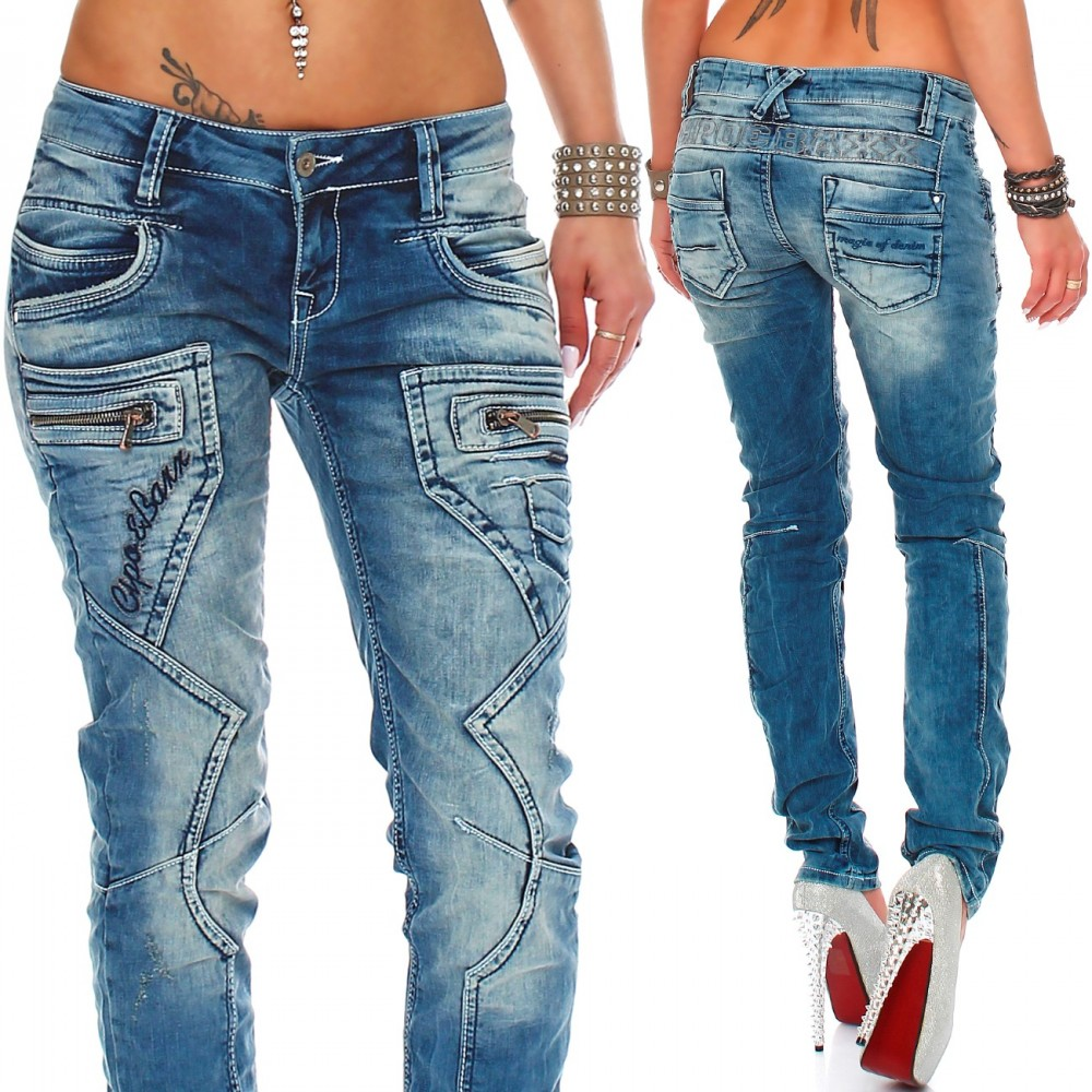 cipo baxx damen jeans wd200b 73 58. Black Bedroom Furniture Sets. Home Design Ideas