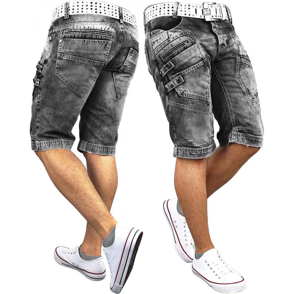 c5fe1f609570a5 RedBridge Herren Jeans Shorts R31151 Grau