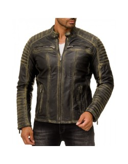 Red Bridge Herren Jacke ECHTLEDER M6013LUX-A