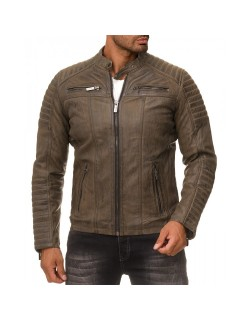 Red Bridge Herren Jacke ECHTLEDER M6013LUX-B