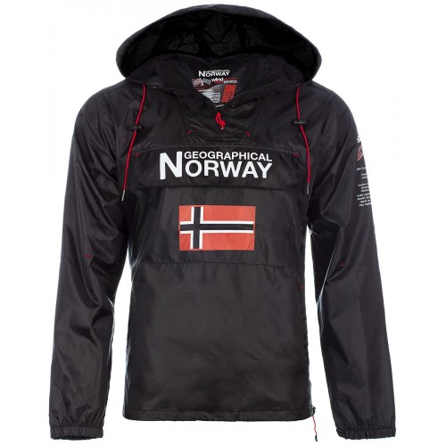 Geographical Norway Herren Windbreaker Jacke Butagaz Black XXL