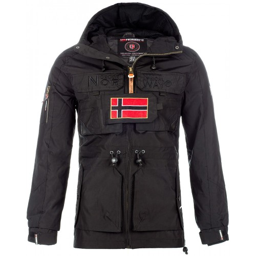 Geographical Norway Herren Winterjacke Butcher Black XL