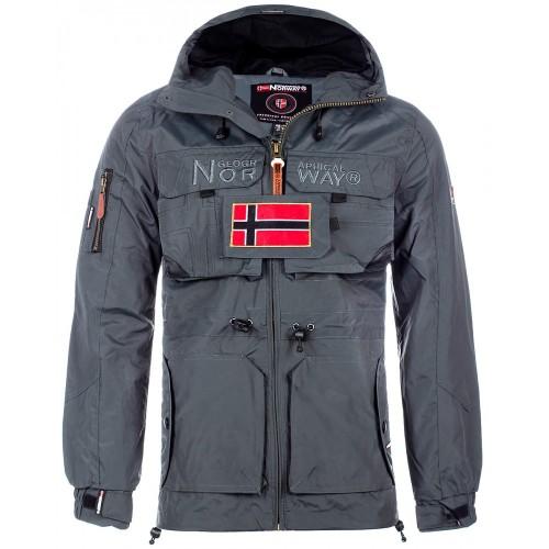 Geographical Norway Herren Winterjacke Butcher Dark grey S