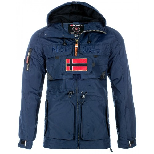 Geographical Norway Herren Winterjacke Butcher Navy L