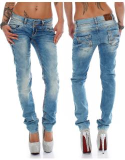 Cipo & Baxx Damen Jeans CBW0347A W30/L32