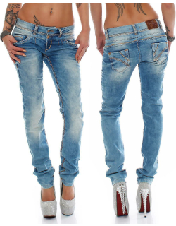 Cipo & Baxx Damen Jeans CBW0347A W32/L32