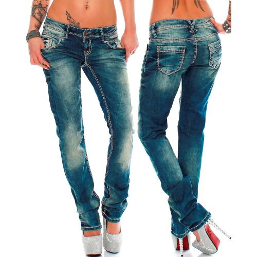 Cipo & Baxx Damen Jeans WD153 W32/L34