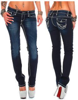 Cipo & Baxx Damen Jeans CBW0231 W32/L32
