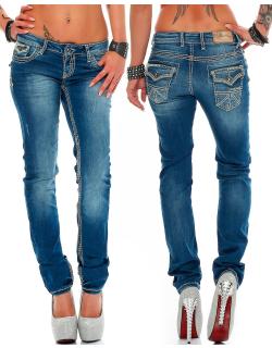 Cipo & Baxx Damen Jeans WD201 W27/L34