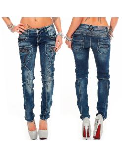 Cipo & Baxx Damen Jeans WD200B W25/L32