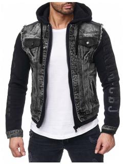 Cipo & Baxx Herren Jeans Jacke CJ155 Schwarz S