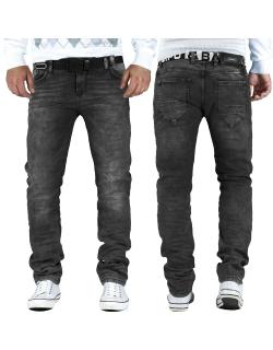 Cipo & Baxx Herren Jeans CD374 anthracite W32/L34