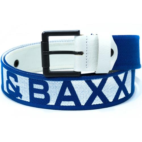 Cipo & Baxx Herren Gürtel-blau Schrift-weiß C-2133 90cm x 4,7cm