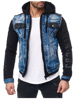Cipo & Baxx Herren Jeans Jacke CJ154 Blau XL