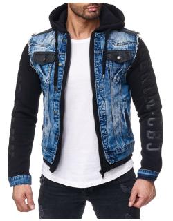 Cipo & Baxx Herren Jeans Jacke CJ154 Blau XXL