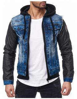 Cipo & Baxx Herren Jeans Jacke C-1290 Blau L