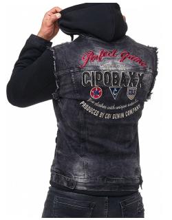 Cipo & Baxx Herren Jeans Jacke CJ185 Schwarz L