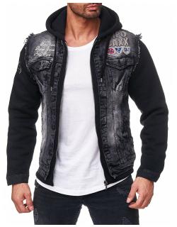 Cipo & Baxx Herren Jeans Jacke CJ185 Schwarz XL