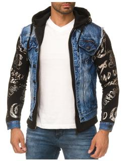 Cipo & Baxx Herren Jeans Jacke CJ181 Blau M