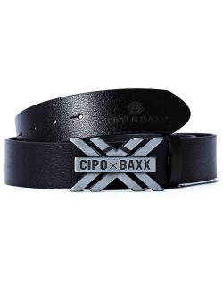 Cipo & Baxx Herren Gürtel CG147 Schwarz 90cm x...