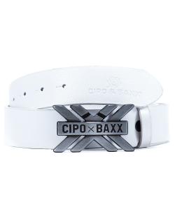 Cipo & Baxx Herren Gürtel CG147 Weiß 95cm...