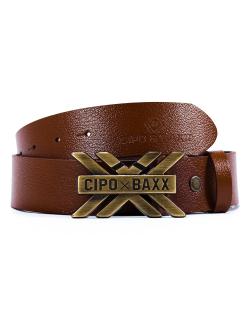 Cipo & Baxx Herren Gürtel CG147 Taba 100cm x 3,8cm