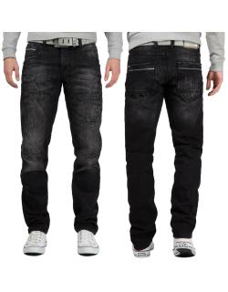 Cipo & Baxx Herren Jeans CD104 Black W40/L36