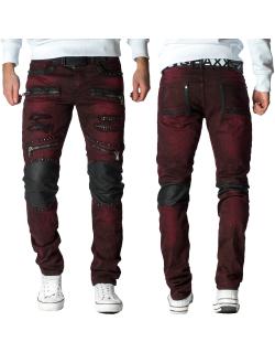 Cipo & Baxx Herren Jeans CD481 Bordeaux W33/L34