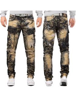 Cipo & Baxx Herren Jeans CD494 Khaki W38/L34