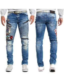 Cipo & Baxx Herren Jeans CD490 Blau W32/L32