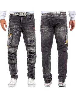 Cipo & Baxx Herren Jeans CD486 Schwarz W32/L32