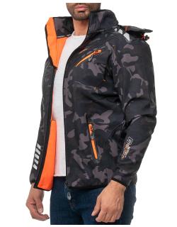 Geographical Norway Herren Jacke Royaute Men Camo - Black-Orange XXXL