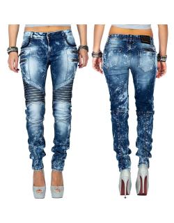 Cipo & Baxx Damen Jeans WD361 Blau W27/L32