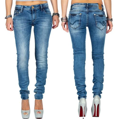 Cipo & Baxx Damen Jeans WD344 Blau W27/L32