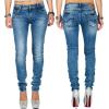 Cipo & Baxx Damen Jeans WD344 Blau W28/L32