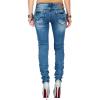 Cipo & Baxx Damen Jeans WD344 Blau W27/L34