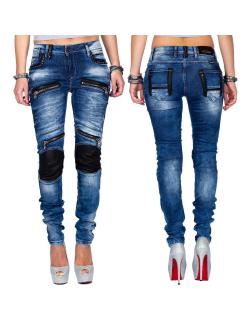 Cipo & Baxx Damen Jeans WD346 Blau W27/L32