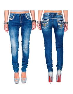 Cipo & Baxx Damen Jeans WD343 Blau W30/L34