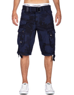 Geographical Norway Herren Shorts Panoramique Camo Navy M