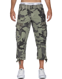Geographical Norway Herren Shorts Panoramique 3/4 Camo...