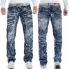 Kosmo Lupo Herren Jeans KM051 Blau W34/L34
